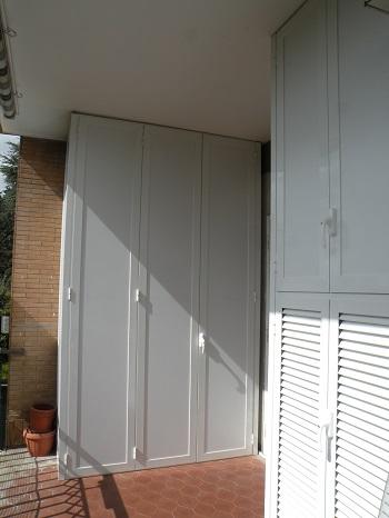 Armadio Alluminio Da Esterno.Mobili Da Balcone A Roma Metalmarkinfissi It