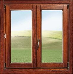 Infissi finestre in legno a roma - Telaio finestra legno ...