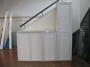 mobile esterno in alluminio su misura mobile copricaldaia in alluminio