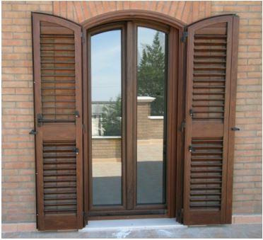 Infissi finestre a roma pvc - Finestre in alluminio color legno ...
