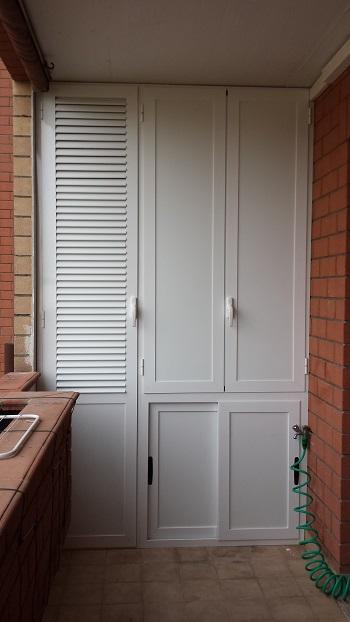 Armadio esterno alluminio casamia idea di immagine for Infissi balcone