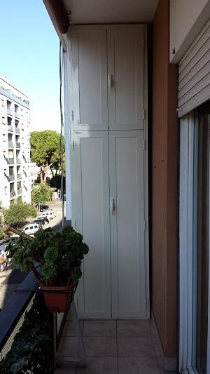 Armadi da balcone in alluminio anodizzato stunning armadi - Armadi da balcone ikea ...